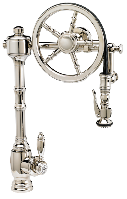 WATERSTONE WHEEL PULLDOWN FAUCET