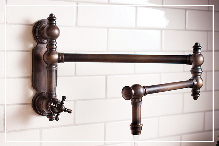Pot Filler Faucets Waterstone Wall And Countertop