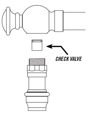 kitchen faucet check valve