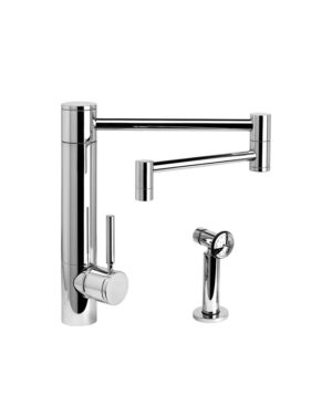 """Hunley 18"""" Kitchen Faucet w/ Side Spray"""