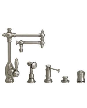 """Towson 12"""" Kitchen Faucet - 4pc. Suite"""