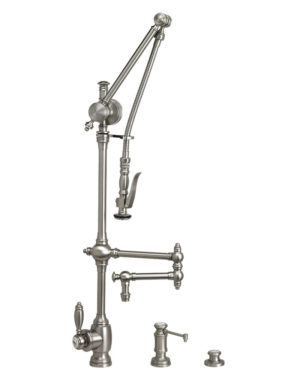"Traditional 12"" Gantry Pull Down Faucet - 3pc. Suite"