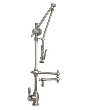 "Traditional Gantry Pull Down Faucet - 12"" Articulated Spout"