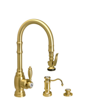 Traditional PLP Prep Size Pull Down Faucet - 3pc Suite