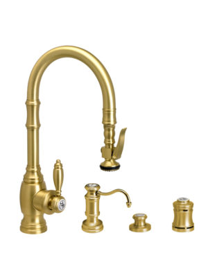 Traditional PLP Prep Size Pull Down Faucet - 4pc Suite