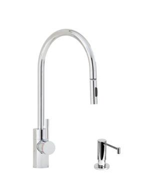 Contemporary PLP Pull Down Faucet - 2pc. Suite