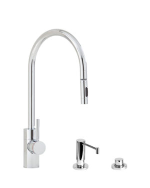 Contemporary PLP Pull Down Faucet - 3pc. Suite