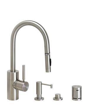 Contemporary PLP Prep Size Pull Down Faucet - 4pc Suite