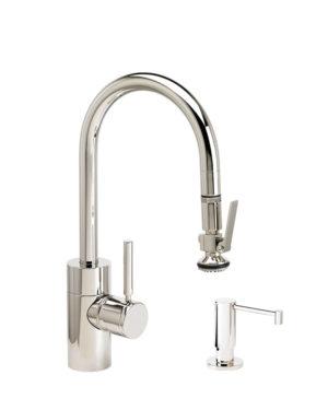Contemporary PLP Prep Size Pull Down Faucet - 2pc Suite