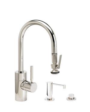 Contemporary PLP Prep Size Pull Down Faucet - 3pc Suite