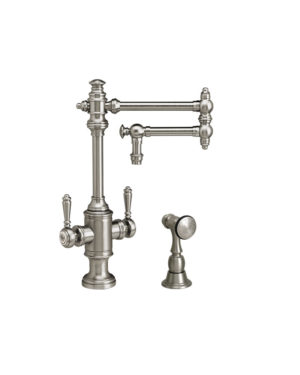 """Towson 12"""" Two Handle Kitchen Faucet w/ Side Spray"""