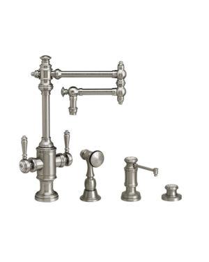 """Towson 12"""" Two Handle Kitchen Faucet - 3pc. Suite"""