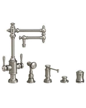 """Towson 12"""" Two Handle Kitchen Faucet - 4pc. Suite"""