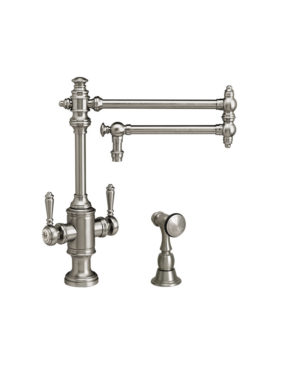 """Towson 18"""" Two Handle Kitchen Faucet w/ Side Spray"""