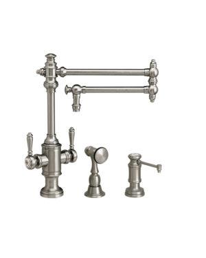 """Towson 18"""" Two Handle Kitchen Faucet - 2pc. Suite"""