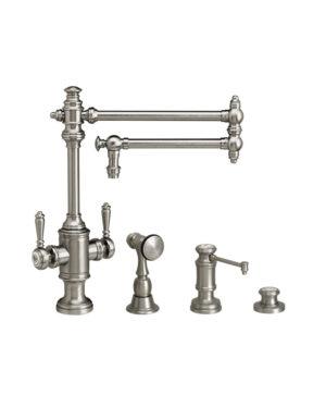 """Towson 18"""" Two Handle Kitchen Faucet - 3pc. Suite"""