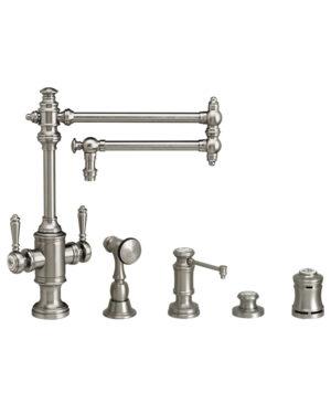 """Towson 18"""" Two Handle Kitchen Faucet - 4pc. Suite"""