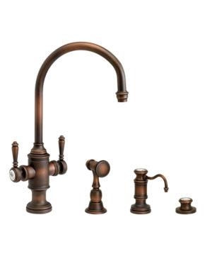 Hampton Two Handle Kitchen Faucet - 3pc. Suite