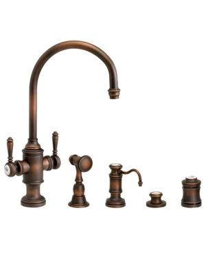 Hampton Two Handle Kitchen Faucet - 4pc. Suite
