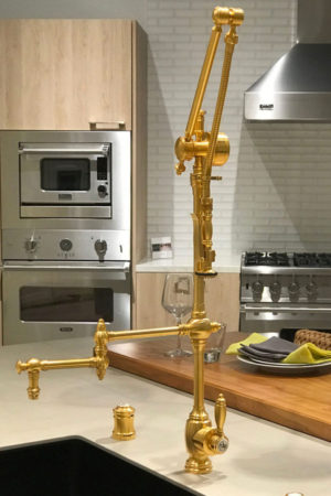 Waterstone gold gantry faucet