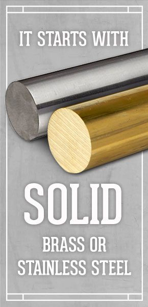 Waterstone solid brass stainless