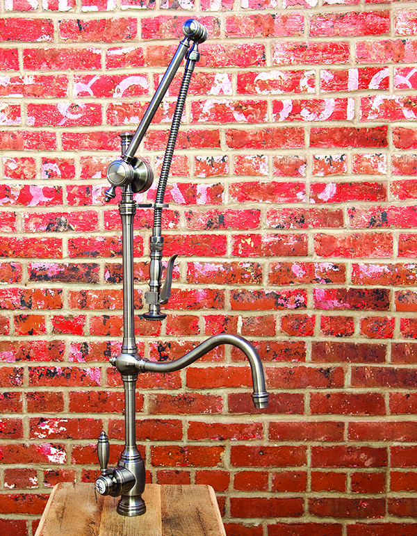 Traditional Gantry Pull Down Faucet - Hook Spout