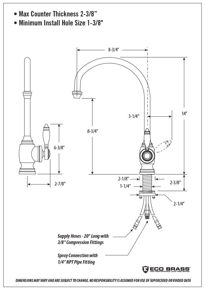 Waterstone Hampton Kitchen Faucet - 4300