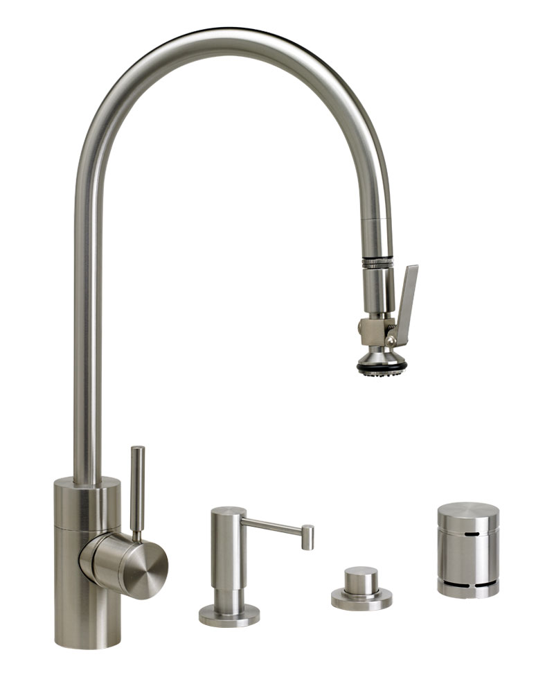 Waterstone Contemporary PLP Pulldown Faucet Suite 5700-4