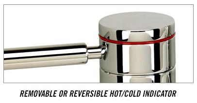 Waterstone contemporary bridge faucet handle