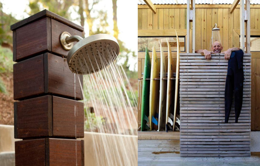 Outdoors Showers: Starry Calm Oasis or Cold Water Coffin?