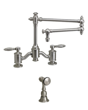 "Towson 18"" Bridge Faucet w/ Side Spray 1"