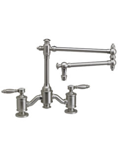 """Towson Bridge Faucet - 18"""" Articulated Spout - Lever Handles 1"""
