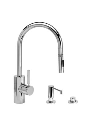 Waterstone Contemporary Pulldown Faucet - 3pc Suite