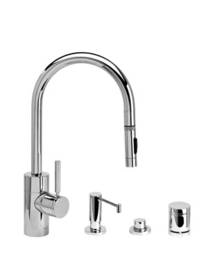 Waterstone Contemporary Pulldown Faucet - 4pc Suite