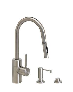 Waterstone Contemporary Prep Size Faucet - 3pc Suite